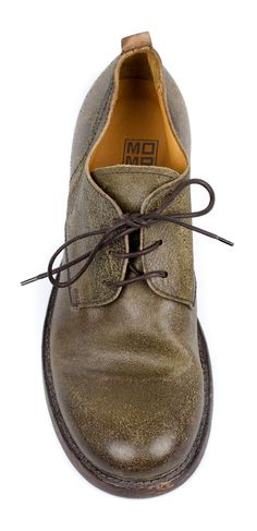 f10bb546d0d MOMA 57401 Distressed Lace-up Oxford for Men - Taupe