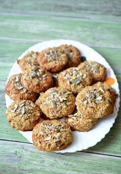 Sütőben sült cukkinifasírt magokkal Vegetarian Recipes, Healthy Recipes, Paleo, Plant Based, Muffin, Food And Drink, Snacks, Baking, Breakfast