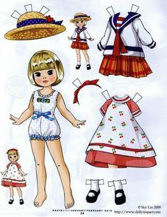 Gallery.ru / Фото #46 - Бумажные куклы - Tawa