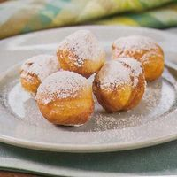 Biscuit Beignets - Had these at Another Broken Egg Cafe and I must try making them. They were served with a Honey Marmalade!! YUM