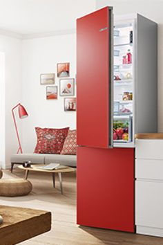 VarioStyle: exchangeable high quality colour fronts to easily restyle your fridge anytime. Stay Cool, Suits You, Tall Cabinet Storage, Doors, Colour, Furniture, Home Decor, Color, Decoration Home