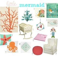 mySEAponies :: under the sea :: mermaid nursery inspiration board #projectnursery #franklinandben #nursery