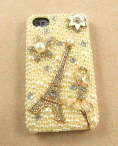 iPhone 4 and iPhone 4S Art Deco Cream Pearls Ballerina by VD5555, $24.00