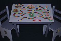 Hey, I found this really awesome Etsy listing at http://www.etsy.com/listing/69593279/childrens-table-and-chair-set-lets-play