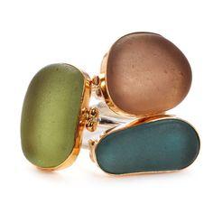 ...found beachglass set in 14K gold | Emily Amey Jewelry