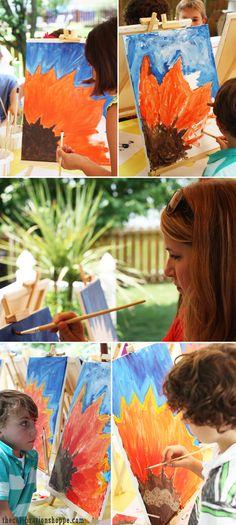 Art Party Ideas kids will love! | @kimbyers TheCelebrationShoppe.com