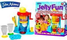 We have joined forces with John Adams to offer 5 lucky readers the chance to win their own Jelly Fun Slush Maker! This fab new kit is set to give the slushy a makeover! It's easy peasy to use; just make and set jelly in the usual way, using two or three different colours, then spoon in one colour/flavour into each of the three compartments in the carousel and load into the dispenser. Once you've done this, it's time to start making your jelly slushy style drinks! Closing Date 28 November 14