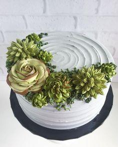 Best Succulent Cupcakes Baby Shower Ideas Best Succulent C Pretty Cakes, Beautiful Cakes, Amazing Cakes, Cupcakes Succulents, Cactus Cake, Gateaux Cake, Baby Shower Cupcakes, Shower Cakes, Fancy Cakes