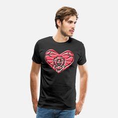 Sternzeichen Löwe Männer Premium T-Shirt T Shirt Designs, Workout Shirts, Fitness, Mens Tops, Fashion, Zodiac Cancer, Shirt Men, Young Women, Moda