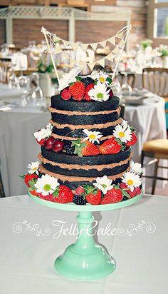 Chocolate Naked Wedding Cake | Flickr - Photo Sharing!
