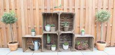 [Garten] ↠ Ein praktisches Obstkisten-Regal and was ihr tun könnt, wenn ihr mit… Flowers, Plants, Industrial, Diy, Patio, Old Boxes, Lawn And Garden, Ideas, Projects