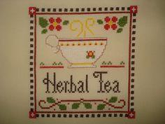 Krížikové vyšívanie Herbal Tea, Tea Time, Pot Holders, Herbalism, Cross Stitch, Herbal Medicine, Punto De Cruz, Hot Pads, Potholders