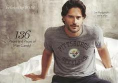 he's on a bed with my team shirt...doesn't get much better then this folks!!!!   Pittsburgh Steeler fan, Joe Manganiello