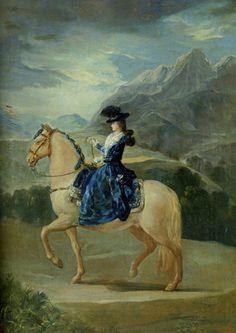 Francisco Goya  Maria Teresa Vallabriga à cheval   1783  Huile sur toile  Galerie des Offices, Florence