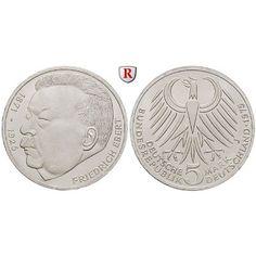 Bundesrepublik Deutschland, 5 DM 1975, Ebert, J, vz-st, J. 416: 5 DM 1975 J. Ebert. J. 416; vorzüglich-stempelfrisch 10,00€ #coins