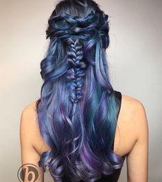 Denim and purple hair  By @kimwasabi