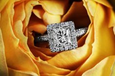 #princess halo diamond #ring #engagement #wedding