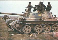 Iraqi T-55 during the same battle of Al-Amarah (1984).