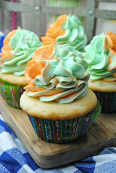 If you haven't had Sherbet Cupcakes before you are missing out. These were all the talk at a recent bake sale the kids held to raise money for