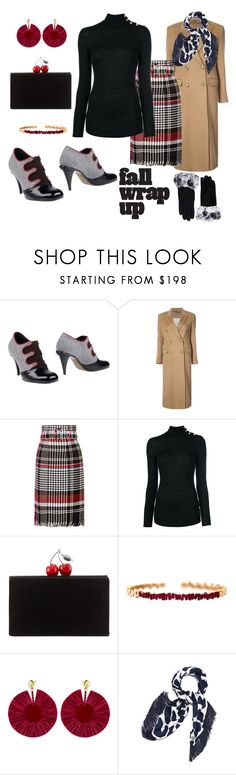 """CHERRY FLAVOR"" by polymeme ❤ liked on Polyvore featuring Fendi, Giuliva Heritage Collection, Oscar de la Renta, Balmain, Edie Parker, Suzanne Kalan and Tory Burch"