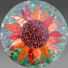 Trendy Ideas For Garden Art Stone Mosaic Tiles Mosaic Tile Art, Mosaic Pots, Mosaic Crafts, Mosaic Projects, Mosaic Glass, Mosaics, Stained Glass, Mosaic Table Tops, Fused Glass