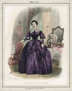 1853 - May fashion plate by Le Moniteur de la Mode found at http://digital.lapl.org/ItemDetails.aspx?id=4312=314    This is great source of vintage fashion plates.  see more at http://digital.lapl.org/Browse.aspx?s=3