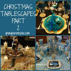 Christmas Tablescapes - Part 2 is another tour of the wonderful tablescapes that the women from our church did for the Christmas Extravaganza.  I'm sure you'll find lots of inspiration to spur your own ideas for your Christmas tablesscape.