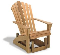 Adirondack Glider Chair Wood Project Plan