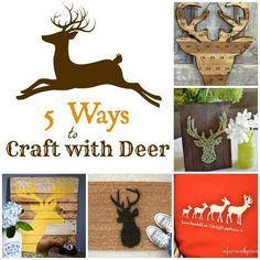 Fall Decorating Ideas | Bring a little deer into your fall decor with these five DIY deer projects!