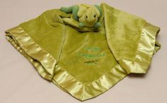 "Bearington Baby Security Blanket Kneehigh To A Grasshopper Green Lovey Satin 19"" #BearingtonCollection"