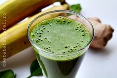 smoothie de spanac,banane si ghimbir Vegetarian Recipes, Healthy Recipes, Eat Smart, Juice Smoothie, Nutribullet, Raw Vegan, Baby Food Recipes, Healthy Lifestyle, Health Fitness