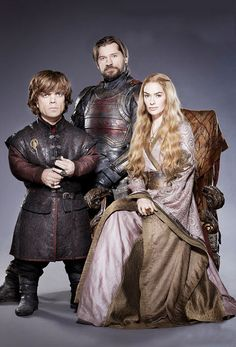 Peter Dinklage, Nikolaj Coster-Waldau, and Lena Headey in Entertainment Weekly (Tyrion, Jaime, and Cersei Lannister)