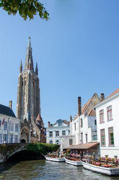 Brugge, Belgium. Church is always tallest bldg. in cities