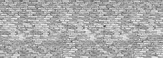 Old Brick Wall - Grey - Fotobehang
