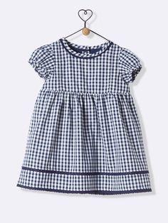 BABY'S BALLON-SLEEVED SHEATH DRESS