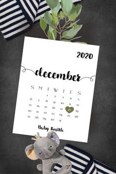 This cute keepsake calendar is personalized with your baby's due date. It can be used as a photo prop for sharing your wonderful news with your social media friends. Due Date Calendar, Baby Calendar, Wooden Calendar, Pregnancy Calendar, Brighton Map, Cute Baby Announcements, Baby Due Date, Printable Calendar Template, Baby Quotes