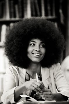 Esperanza Spalding is always in the 1st row at Paris and New York fashion week. She always looks awesome. I have pinned her a few times on this board and the Beautiful Things in Fashion (first board). Biddy Craft
