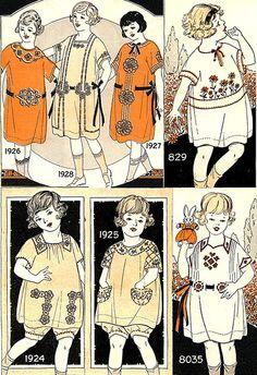 24 Trendy Sewing Vintage Illustration Little Girls Vintage Kids Fashion, Vintage Children, Vintage Outfits, Fashion 1920s, Sewing Patterns Free Dog, Vintage Sewing Patterns, Little Girl Dresses, Little Girls, Girls Dresses