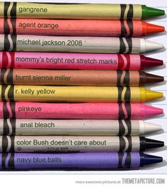 Accurate crayon color...