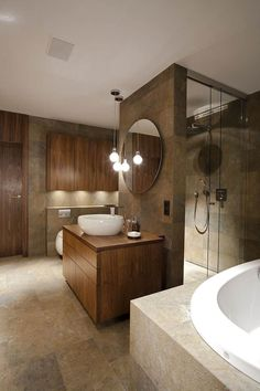bathroom-modern-cladding-wall-stone-natural-furniture-wood modern bathroom Source by Stone Bathroom, Modern Bathroom, Apartment Interior Design, Interior Decorating, Homestead House, Natural Furniture, Spa Design, Bathroom Trends, Home Upgrades