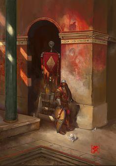 Constantinople City Watch, Dennis Wong on ArtStation at https://www.artstation.com/artwork/ZRql0