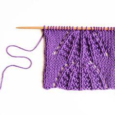 Le point de manne - large basketweave stitch — trust the mojo Manado, Lace Knitting, Knitting Stitches, Waffle Stitch, Star Stitch, Purple Haze, Basket Weaving, Trust, How To Make