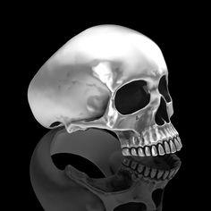 Sterling silver half Skull rings.