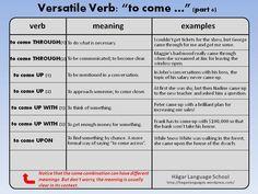"""Versatile Verb: """"to come"""" (part 6) Phrasal Verbs"""