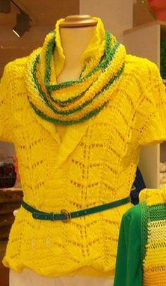Gestrickte Jacke aus reiner Baumwolle