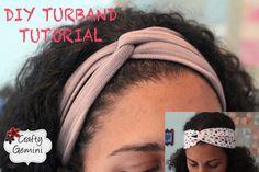 Turban Inspired Headband- DIY Turband Tutorial, via YouTube.