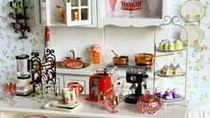 Handmade scale miniatures for the dollhouse kitchen, pantry and dining room. Shop Interior Design, Luxury Interior, Dollhouse Furniture, Home Furniture, Eating Before Bed, Metal Floor, Victorian Dolls, Shop House Plans, Healthy Chicken Recipes