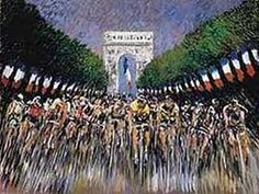 See the finish of the tour de france