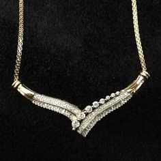 10K Yellow Gold 3/4 (.75) Carat Diamond Necklace Stored in the jewelry box for years, this beautiful 18 inch, diamond necklace is looking for a good home. It's 10K yellow gold and has 3/4 carats (.75) of real diamonds. Interested? Send me your best offer! Jewelry Necklaces