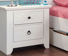Teenage Bedroom: Iseydona Nightstand by Ashley Furniture at Kensington Furniture. Perfect for a teen girl's room!